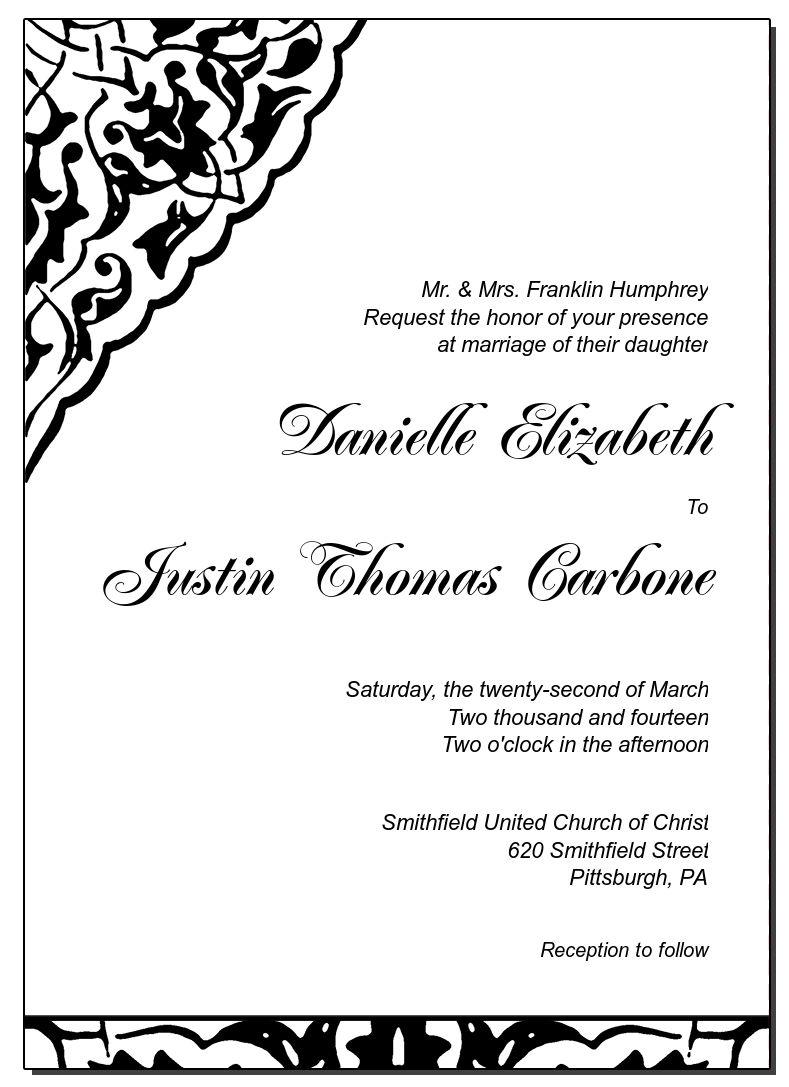 Modern Ivy Lace Gate Fold Invitation 5x7 Wedding Stationery Kit Invitations