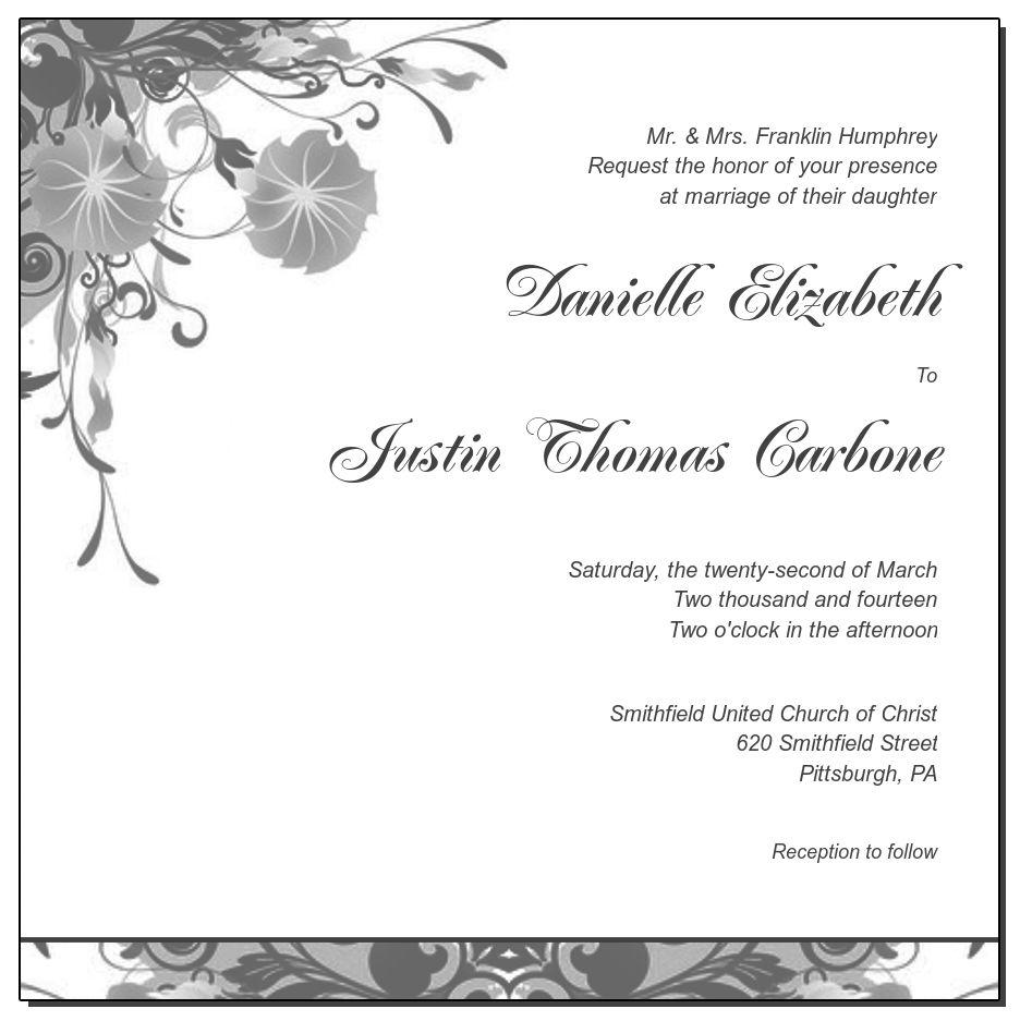 Modern Floral Vines Folded Invitation,7.25x5.125, wedding invitation ...